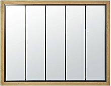 Spiegel mit Rahmen aus Kiefernholz und schwarzem