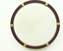Spiegel mit Rahmen aus Mahagoni & Messing, 1960er