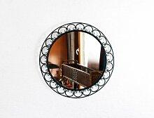 Spiegel mit Rahmen aus Schmiedeeisen, 1950er