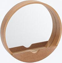 Spiegel mit Regal Vern Ø60 cm Sklum