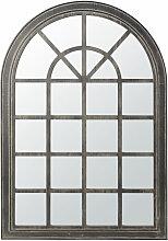 Spiegel mit schwarzem Tannenholz-Rahmen in