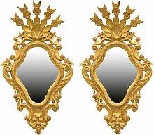 Spiegel mit vergoldetem Holzrahmen, 2er Set