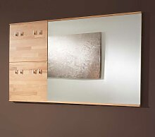 Spiegel mit Wandgarderobe Kernbuche Massivholz