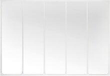Spiegel mit weißem Metallrahmen, 123x180