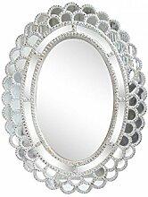 Spiegel oval antik weiß