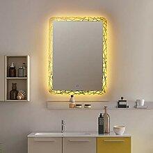 Spiegel Quadratischer LED-Badspiegel,