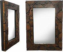 Spiegel Rahmen Antik Thailand Massiv Wandspiegel Flurspiegel ca. 50 x 70 cm Dunkelbraun