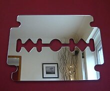 Spiegel Rasierklinge 35cm x 30cm