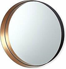 Spiegel Romy, rund, aus Metall, Farbe Kupfer, 26cm– vonBruno Evrard