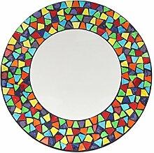 Spiegel, rund, Mosaik multigloss 40cm