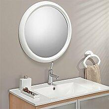 Spiegel rund weiß Ø 60 cm Wandspiegel Badspiegel