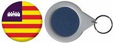 Spiegel Schlüsselbund Flagge Fahne Balearen - 58mm