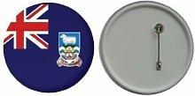 Spiegel Schlüsselbund Flagge Fahne Falklandinseln - 58mm