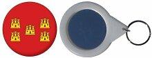 Spiegel Schlüsselbund Flagge Fahne Frankreich Poitou Charentes - 58mm