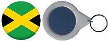 Spiegel Schlüsselbund Flagge Fahne Jamaika - 58mm