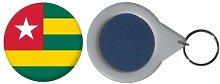 Spiegel Schlüsselbund Flagge Fahne Togo - 58mm