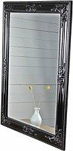 Spiegel schwarz antik 82x62 cm Holz NEU Wandspiegel barock Badspiegel Standspiegel