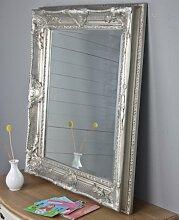 Spiegel silber antik 78x68cm Holz NEU Wandspiegel barock Badspiegel Standspiegel