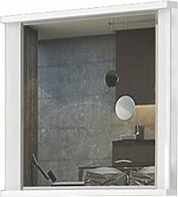 Spiegel Sili 05, Farbe: Weiß - Abmessungen: 65 x