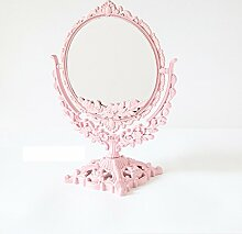 Spiegel Spiegel Spiegel Spiegel Prinzessin Spiegel Portable Einfache Mode Große doppelseitige Spiegel ( farbe : Pink )
