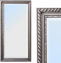 Spiegel STRIPE 100x50cm silber antik Design Spiegel Holzrahmen Wandspiegel