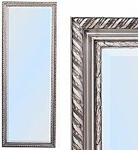 Spiegel STRIPE 140x50cm silber antik Design Spiegel Holzrahmen Wandspiegel