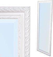Spiegel STRIPE 180x70cm weiß-silber Design Spiegel Holzrahmen Wandspiegel