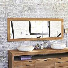 Spiegel Teak rechteckig 160 x 60 cm Wandspiegel Holz massiv neu Tikamoon