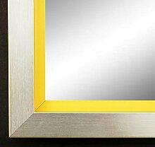 Spiegel Wand-Spiegel Flur-Spiegel Bad-Spiegel - Herzogenaurach 3,0 - Silber Gelb - DIN A4 (21,0 x 29,7 cm) - FM - 200 Größen zur Auswahl - handgefertigt - Modern, Shabby, Vintage