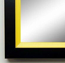 Spiegel Wand-Spiegel Flur-Spiegel Bad-Spiegel - Herzogenaurach 3,0 - Schwarz Gelb - 40 x 100 - AM - 200 Größen zur Auswahl - handgefertigt - Modern, Shabby, Vintage