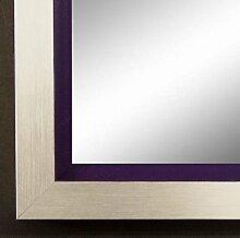 Spiegel Wand-Spiegel Flur-Spiegel Bad-Spiegel - Herzogenaurach 3,0 - Silber Violett - 30 x 90 - FM - 200 Größen zur Auswahl - handgefertigt - Modern, Shabby, Vintage