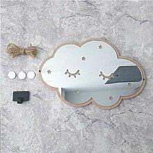Spiegel-Wandaufkleber mit Wolkenspiegel, Acryl,