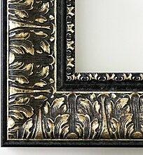 Spiegel Wandspiegel - Ancona Schwarz Silber 7,5 - Über 14000 Größen im Angebot zur Auswahl - hier: 52 x 54 cm - Maßanfertigung