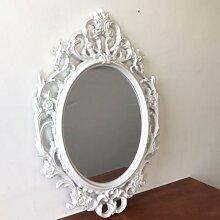 Spiegel Wandspiegel Antik-Stil Barock 84x57cm Hängespiegel Flurspiegel Weiß