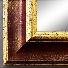 Spiegel Wandspiegel Badspiegel - Acta Rot Gold 6,7 - handgefertigt - 200 Größen zur Auswahl - Antik, Barock - 70 x 80 cm AM