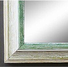 Spiegel Wandspiegel Badspiegel - Bari Beige Weiß Grün 4,2 - handgefertigt - 200 Größen zur Auswahl - Shabby Chic, Landhaus - 90 x 90 cm FM