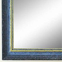 Spiegel Wandspiegel Badspiegel - Braunschweig 2,5 - Blau mit Gold - 200 Größen zur Auswahl - handgefertigt - 28 x 35 - AM - Antik, Vintage