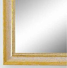 Spiegel Wandspiegel Badspiegel - Braunschweig 2,5 - Gelb mit Gold - 200 Größen zur Auswahl - handgefertigt - 40 x 50 - AM - Antik, Vintage