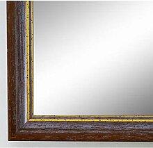 Spiegel Wandspiegel Badspiegel - Braunschweig 2,5 - Rot Braun mit Gold - 200 Größen zur Auswahl - handgefertigt - 40 x 50 - FM - Antik, Vintage