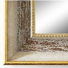 Spiegel Wandspiegel Badspiegel Flurspiegel Garderobenspiegel - Über 200 Größen - Monza Beige Braun 6,7 - Außenmaß des Spiegels 70 x 70 - Wunschmaße auf Anfrage - Modern