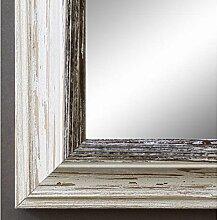 Spiegel Wandspiegel Badspiegel Flurspiegel Garderobenspiegel - Über 200 Größen - Bari Beige Weiß Schwarz 4,2 - Außenmaß des Spiegels DIN A2 (42,0 x 59,4 cm) - Wunschmaße auf Anfrage - Antik, Barock