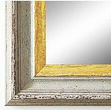 Spiegel Wandspiegel Badspiegel Flurspiegel Garderobenspiegel - Über 200 Größen - Trento Beige Gold 5,4 - Größe des Spiegelglases 70 x 130 - Wunschmaße auf Anfrage - Modern