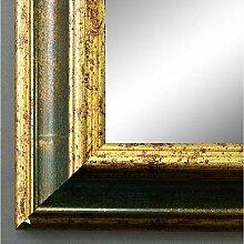 Spiegel Wandspiegel Badspiegel Flurspiegel Garderobenspiegel - Über 200 Größen - Bari Grün Gold 4,2 - Außenmaß des Spiegels DIN A3 (29,7 x 42,0 cm) - Wunschmaße auf Anfrage - Antik, Barock