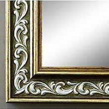 Spiegel Wandspiegel Badspiegel Flurspiegel Garderobenspiegel - Über 200 Größen - Verona Grün Gold 4,4 - Außenmaß des Spiegels 30 x 100 - Wunschmaße auf Anfrage - Antik, Barock