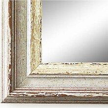 Spiegel Wandspiegel Badspiegel Flurspiegel Garderobenspiegel - Über 200 Größen - Trento Beige Silber 5,4 - Außenmaß des Spiegels 40 x 110 - Wunschmaße auf Anfrage - Modern