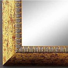 Spiegel Wandspiegel Badspiegel Flurspiegel Garderobenspiegel - Über 200 Größen - Turin Gold 4,0 - Außenmaß des Spiegels 60 x 120 - Wunschmaße auf Anfrage - Antik, Barock