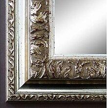 Spiegel Wandspiegel Badspiegel Flurspiegel Garderobenspiegel - Über 200 Größen - Rom Silber 6,5 - Außenmaß des Spiegels 80 x 80 - Wunschmaße auf Anfrage - Antik, Barock