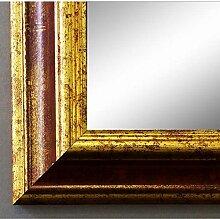 Spiegel Wandspiegel Badspiegel Flurspiegel Garderobenspiegel - Über 200 Größen - Bari Rot Gold 4,2 - Außenmaß des Spiegels 60 x 140 - Wunschmaße auf Anfrage - Antik, Barock