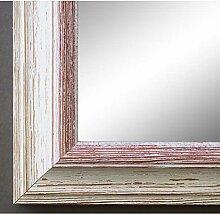 Spiegel Wandspiegel Badspiegel Flurspiegel Garderobenspiegel - Über 200 Größen - Bari Beige Weiß Rot 4,2 - Größe des Spiegelglases 20 x 90 - Wunschmaße auf Anfrage - Antik, Barock