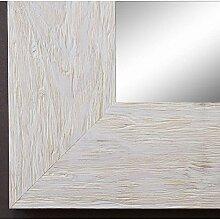 Spiegel Wandspiegel Badspiegel Flurspiegel Garderobenspiegel - Über 200 Größen - Venedig Beige Weiß 6,8 - Größe des Spiegelglases 90 x 130 - Wunschmaße auf Anfrage - Antik, Barock